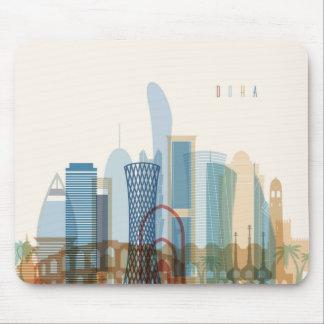 Mousepad Skyline da cidade de Doha, Qatar |