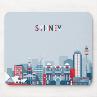Mousepad Skyline da cidade de Sydney Austrália