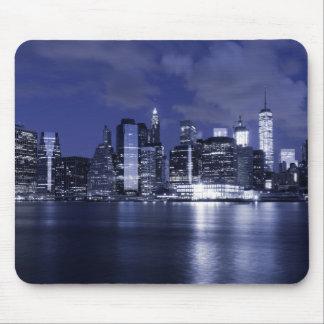 Mousepad Skyline de New York banhada no azul