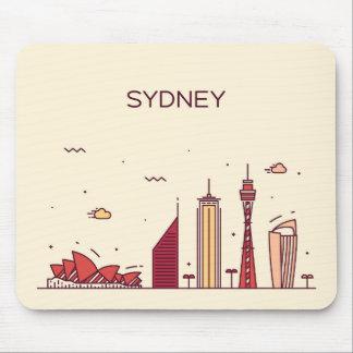 Mousepad Skyline do Doodle de Sydney, Austrália |