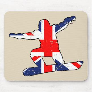 Mousepad SNOWBOARDER de Union Jack (preto)