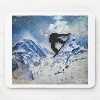 Mousepad Snowboarder em vôo