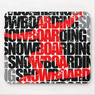Mousepad Snowboarding #1 (preto)