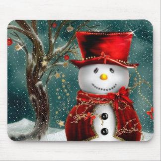 Mousepad Snowmans bonitos - ilustração do boneco de neve