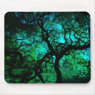 Mousepad Sob a árvore na turquesa II