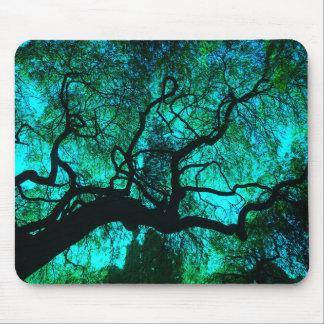 Mousepad Sob a árvore na turquesa III