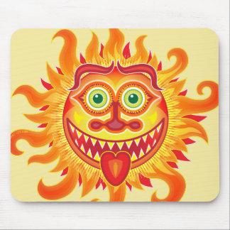 Mousepad Sol brilhante do verão que sorri e que cola a