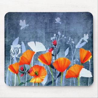 Mousepad Sombra de Summernight- de um prado da papoila
