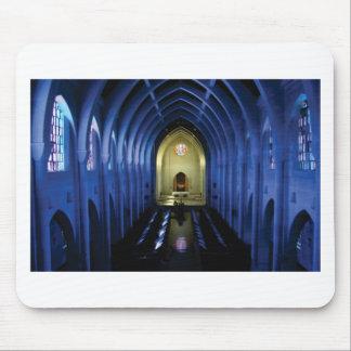 Mousepad sombras da igreja azul escuro