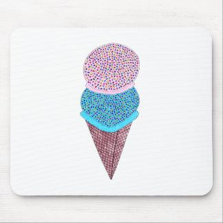 Mousepad Sorvete bonito do dobro do aniversário no cone