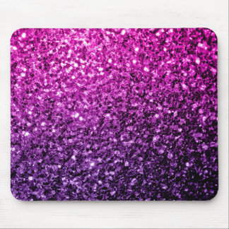 Mousepad Sparkles cor-de-rosa roxos bonitos do brilho de