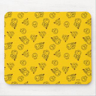 Mousepad Sr. Feliz & teste padrão amarelo pequeno da