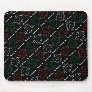 Mousepad Sr. Forte teste padrão vermelho, branco & verde de