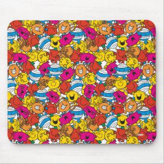 Mousepad Sr. Homem & caras de sorriso brilhantes pequenas