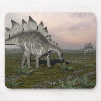 Mousepad Stegosaurus com fome - 3D rendem