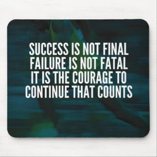Mousepad Sucesso, falha, coragem - exercício inspirador
