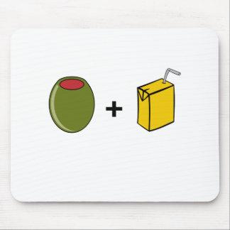 Mousepad Suco verde-oliva eu te amo