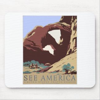 Mousepad Sudoeste América EUA do poster das viagens vintage