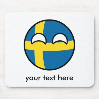 Mousepad Suecia Geeky de tensão engraçada Countryball