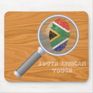 Mousepad Sul - bandeira africana da impressão digital do