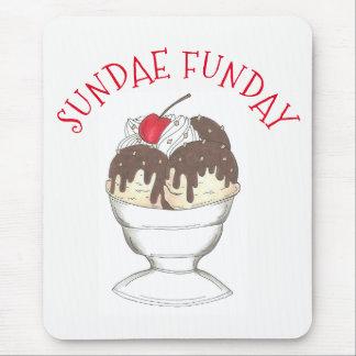 Mousepad Sundae quente domingo Funday da loja do sorvete do