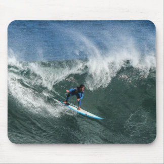 Mousepad Surfista na prancha azul e branca