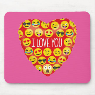 Mousepad Surpreendendo eu te amo o presente de Emoji