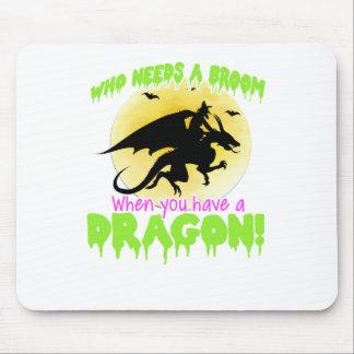 Mousepad T do dragão do Dia das Bruxas