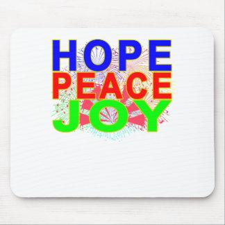 Mousepad T-shirt da alegria da paz da esperança.