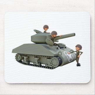 Mousepad Tanque e soldados dos desenhos animados na