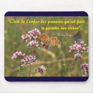 Mousepad tapete de ratos citação Victor Hugo