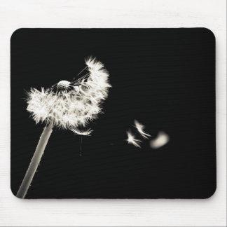 Mousepad Tapete de ratos dente-de-leão preto e branco