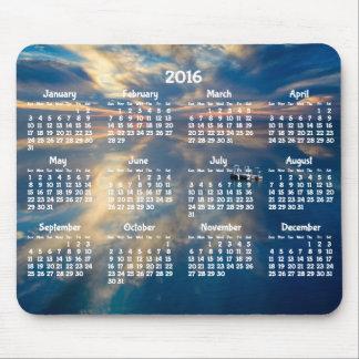 Mousepad Tapete do rato 2016 anual do calendário da praia