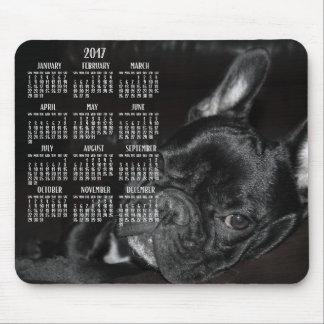Mousepad Tapete do rato 2017 do calendário do buldogue