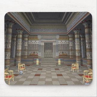 Mousepad Tapete do rato antigo de Salão do egípcio