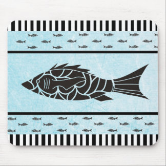 Mousepad Tapete do rato azul e preto da estrela do mar do