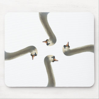 Mousepad Tapete do rato branco das cisnes