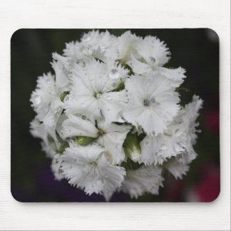 Mousepad Tapete do rato branco floral