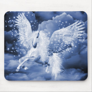 Mousepad Tapete do rato branco Sparkling de Pegasus