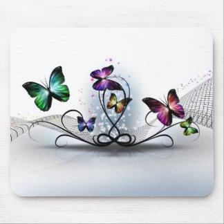 Mousepad Tapete do rato colorido das borboletas