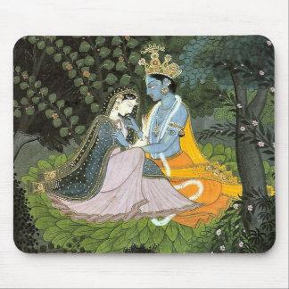 Mousepad Tapete do rato colorido de Krishna & de Radha