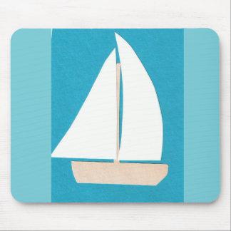 Mousepad Tapete do rato com design do veleiro