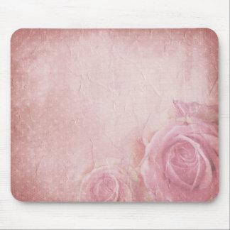 Mousepad Tapete do rato cor-de-rosa dos rosas do vintage