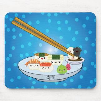 Mousepad Tapete do rato da bandeja do sushi de Kawaii