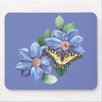 Mousepad Tapete do rato da borboleta da aguarela