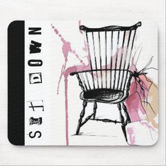 Mousepad Tapete do rato da cadeira de Windsor da aguarela