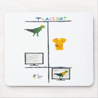 Mousepad Tapete do rato da contabilidade - T-Conta de T-Rex