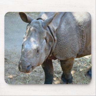 Mousepad Tapete do rato da foto do rinoceronte