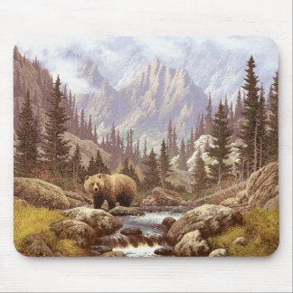 Mousepad Tapete do rato da paisagem do urso de urso