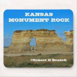 Mousepad Tapete do rato da rocha do monumento de Kansas